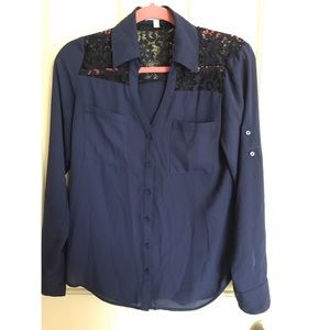 Navy Blue Express Blouse